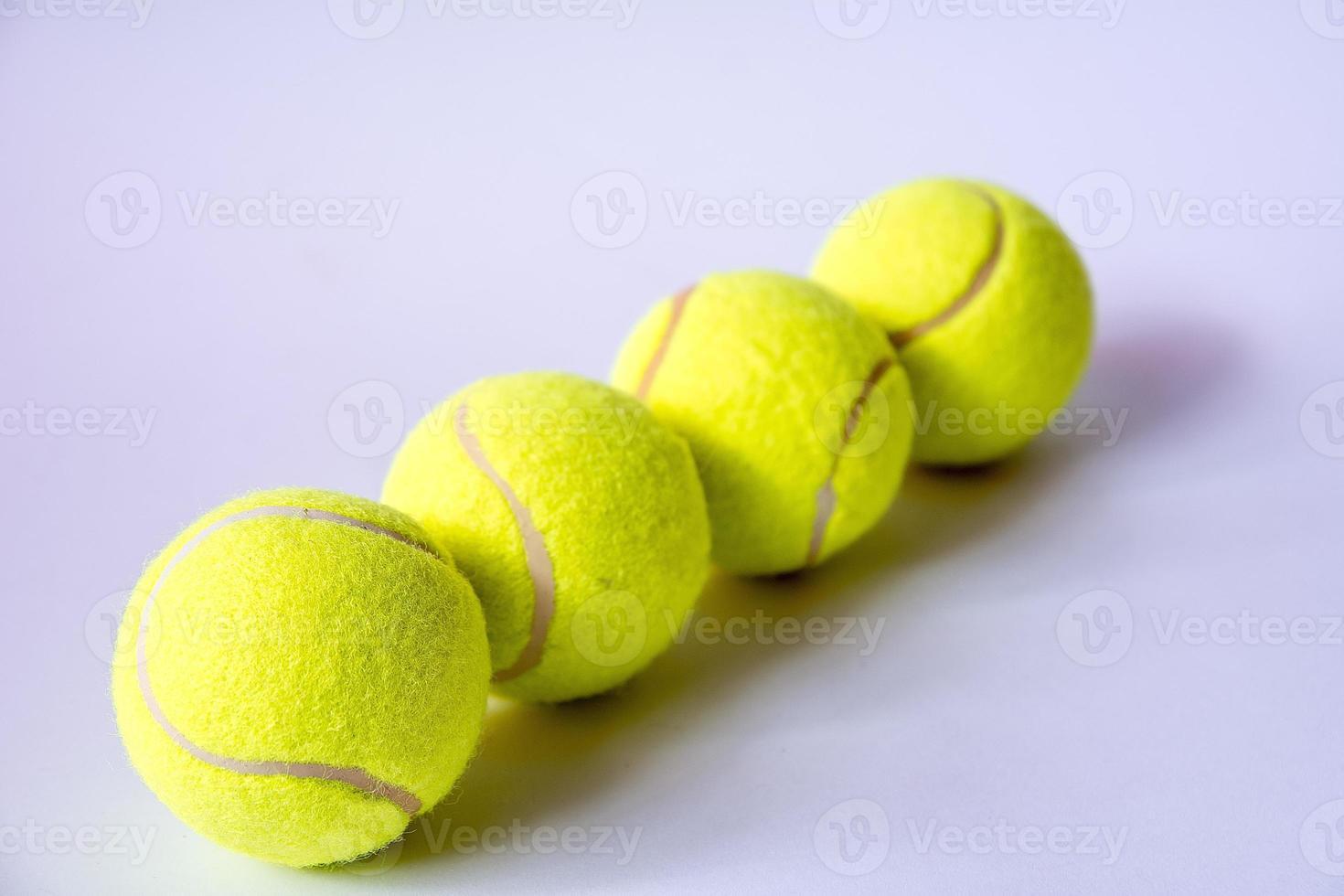 bolas de tênis foto
