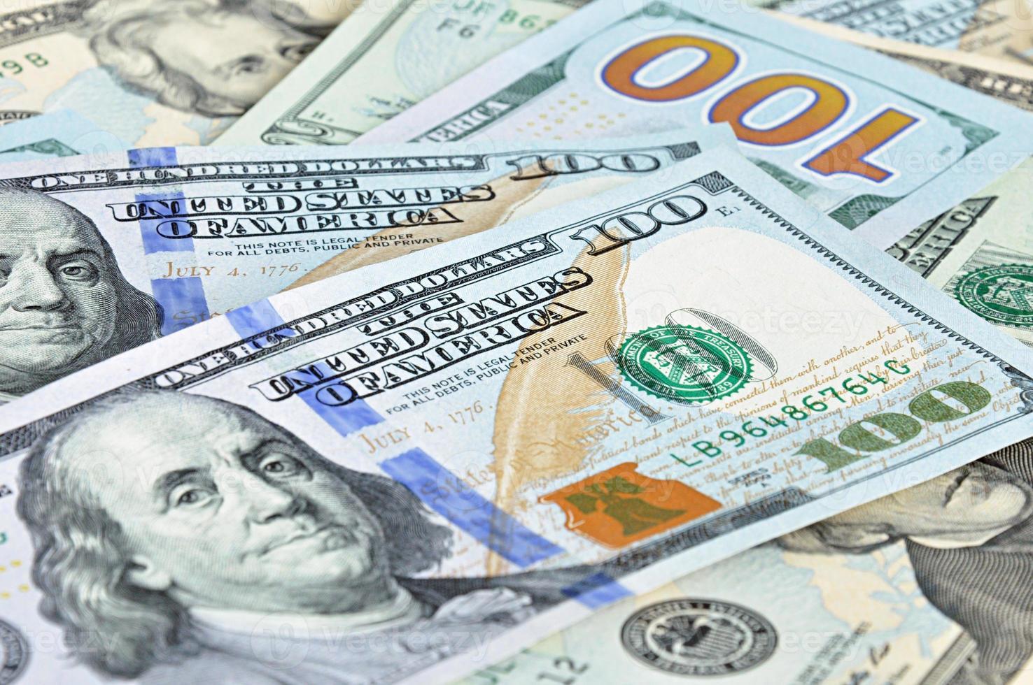 dinheiro - notas de dólares dos estados unidos (usd) foto