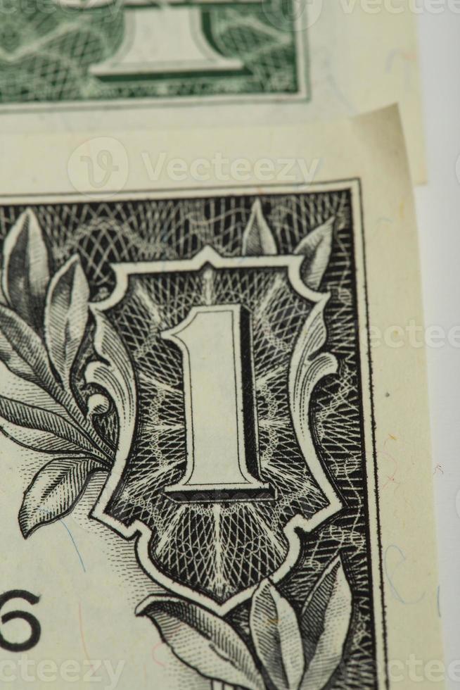 macro de nós notas de dinheiro dólar foto