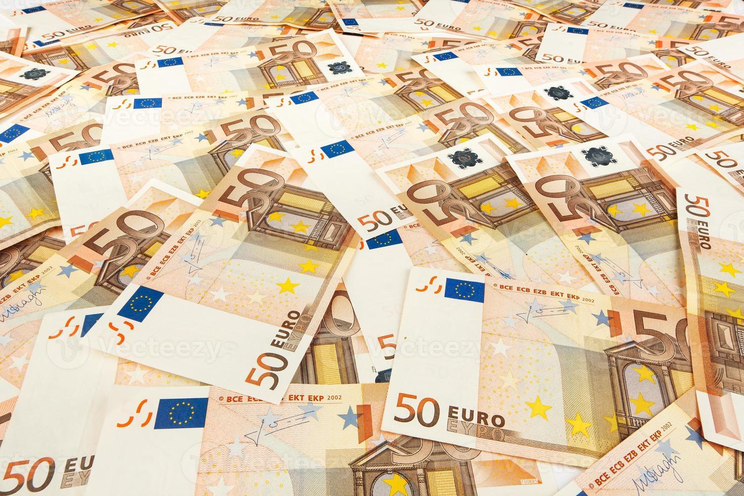 papel-moeda euro. fundo das notas foto