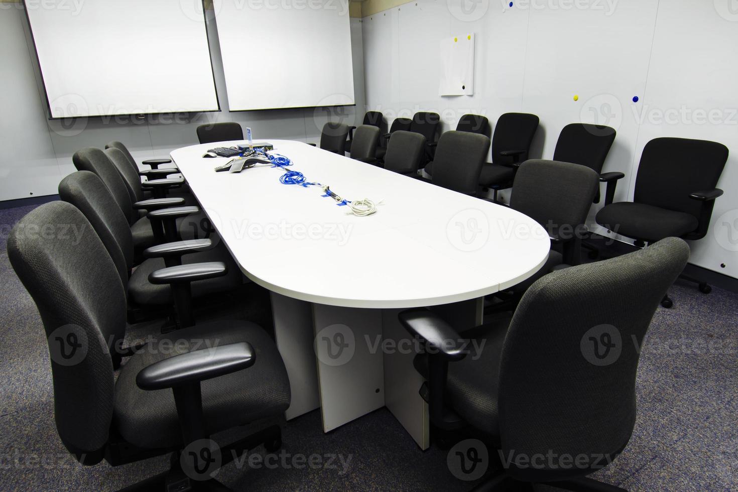 preparação da sala de conferências foto