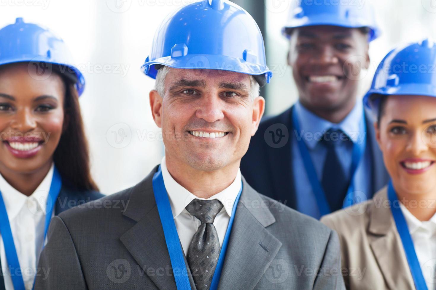 grupo de empresários da construção foto