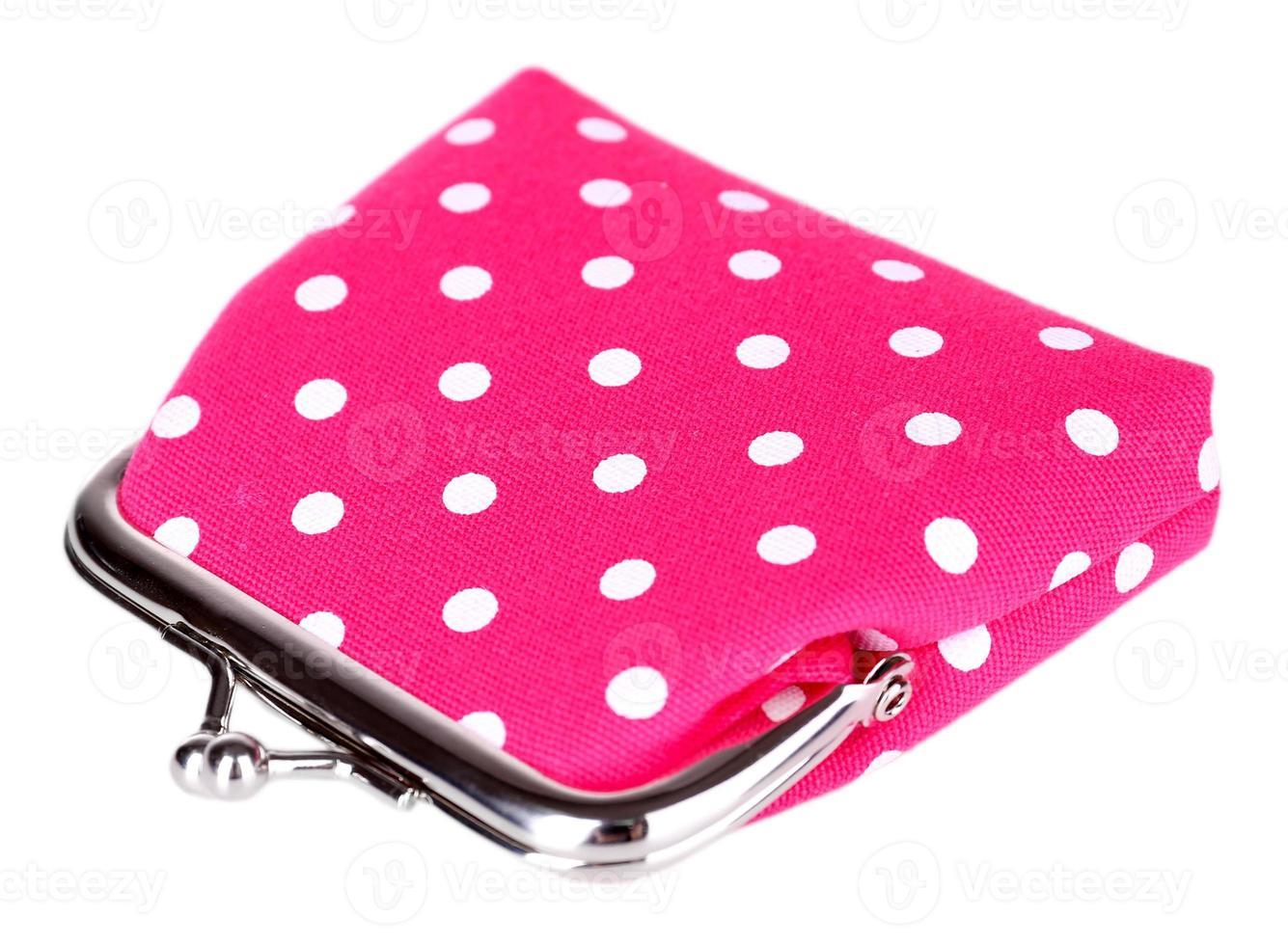 bolsa rosa isolada no branco foto