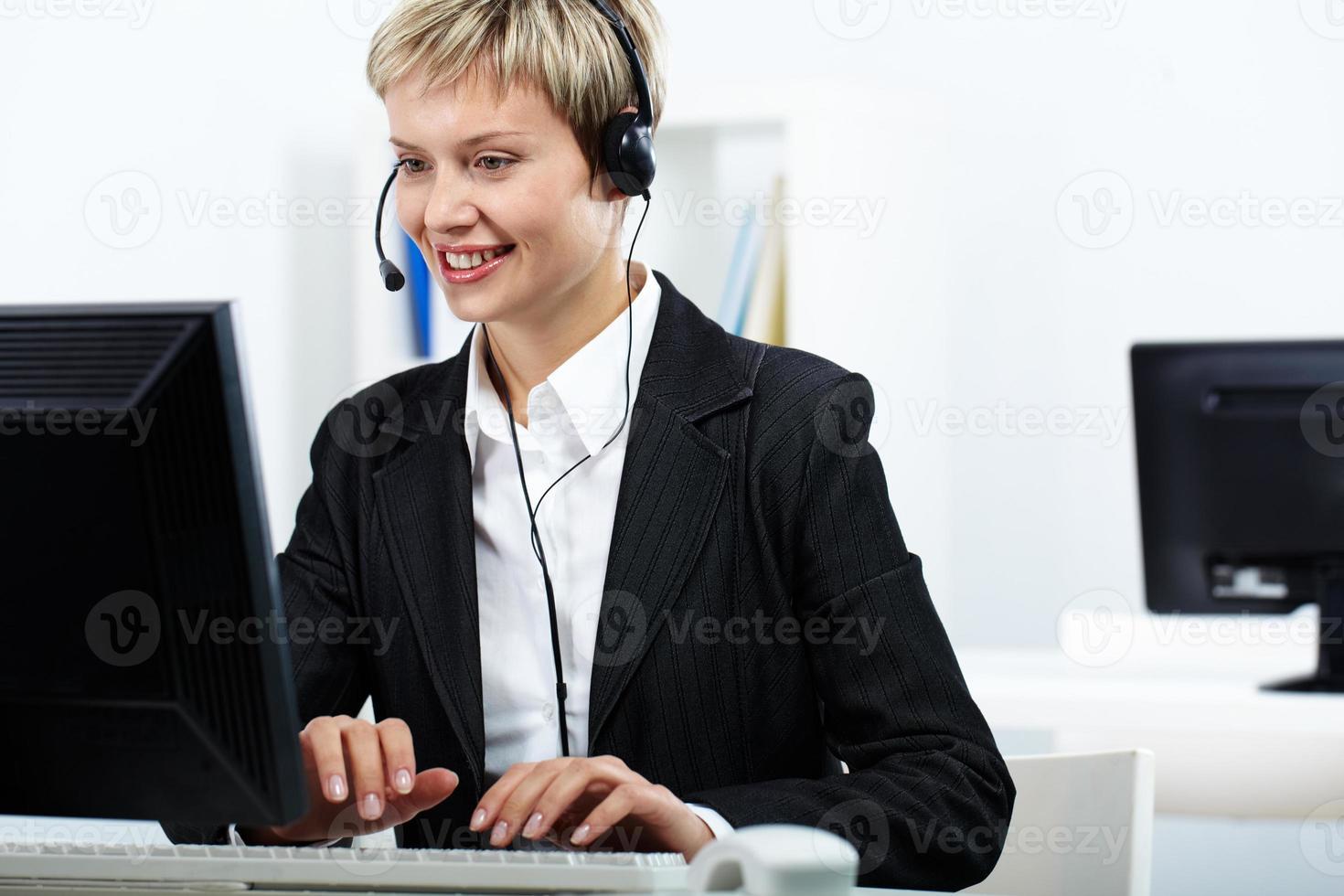 jovem empregado foto