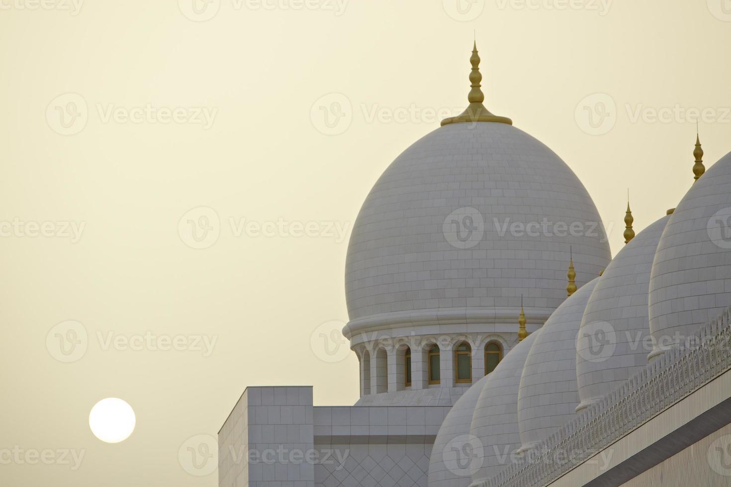 mesquita de abu dhabi zayed foto