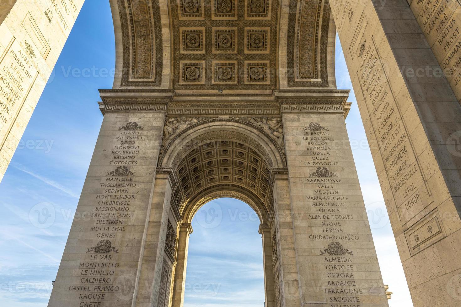 embaixo do arco do triunfo foto