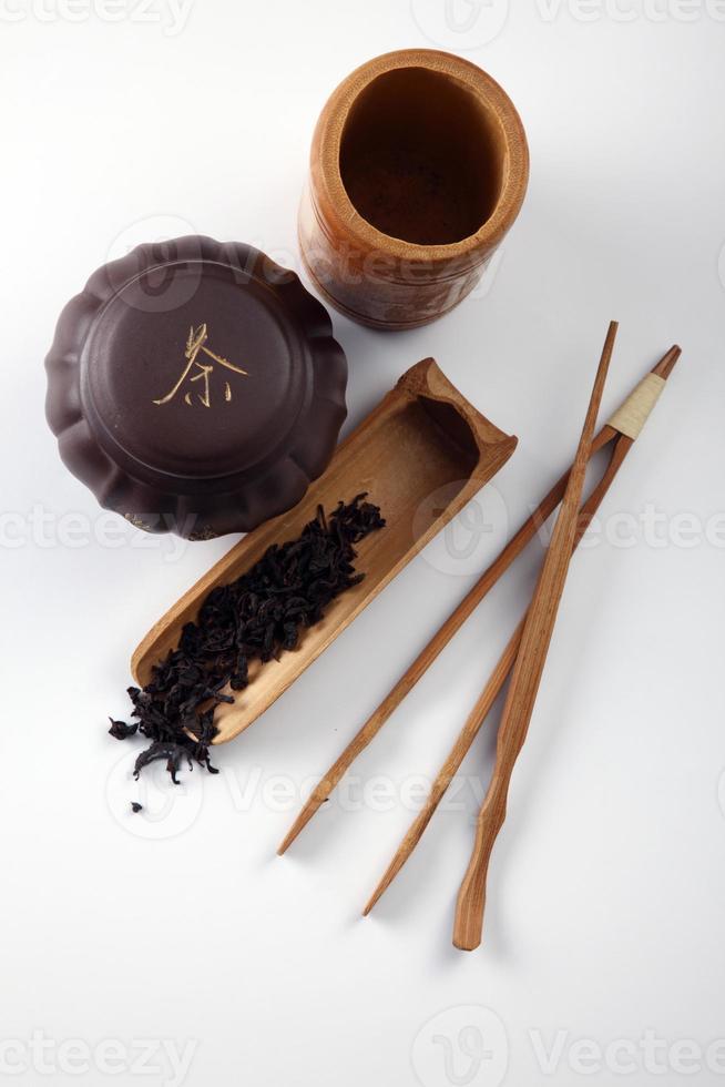 folha de chá chinês seco foto