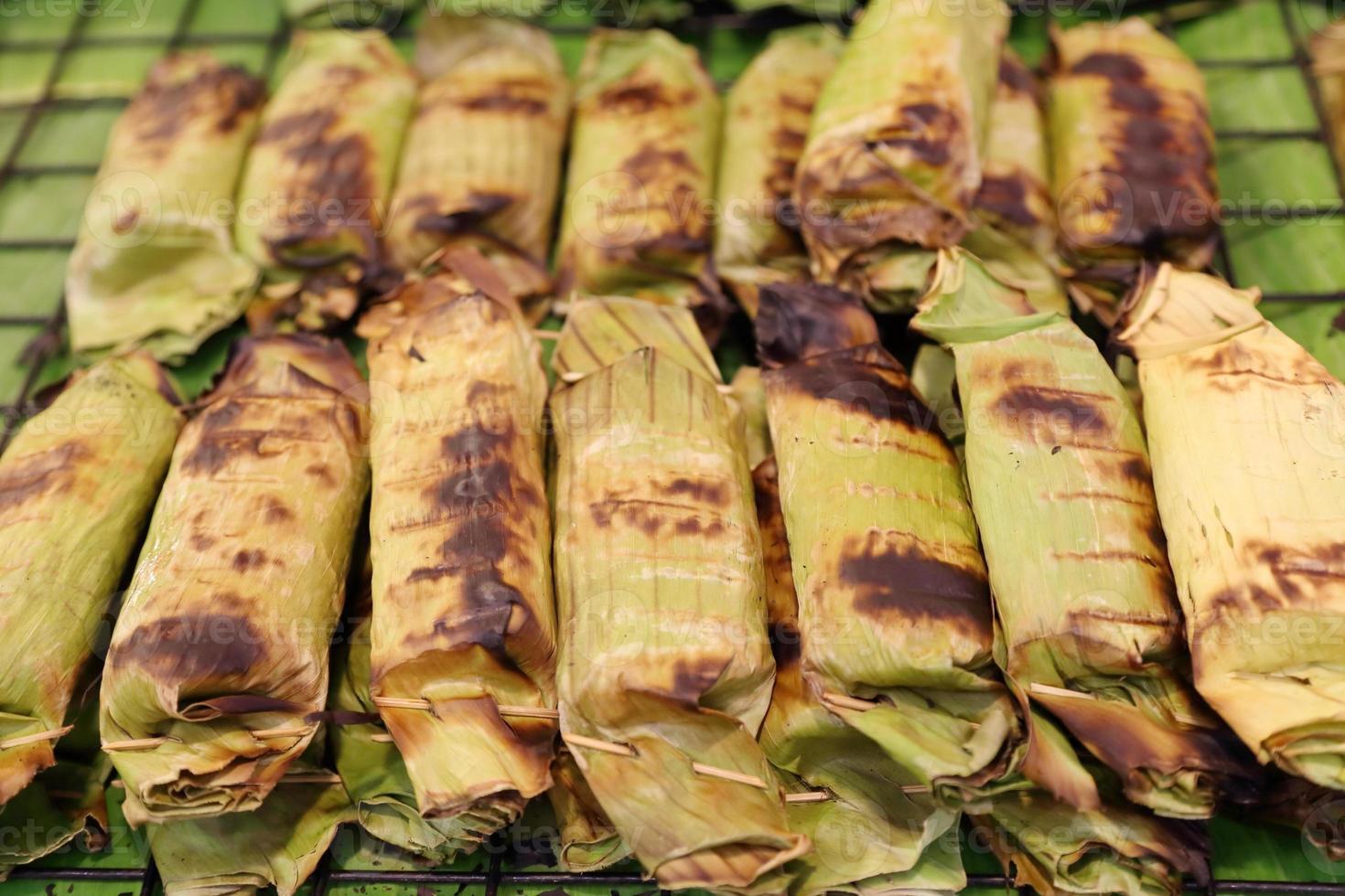 arroz pegajoso assado foto