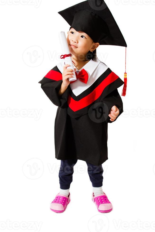 graduação criança asiática foto