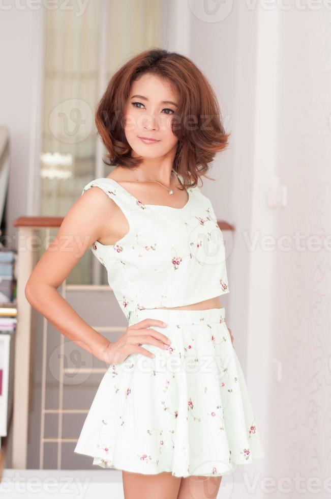 retrato menina asiática bonita foto