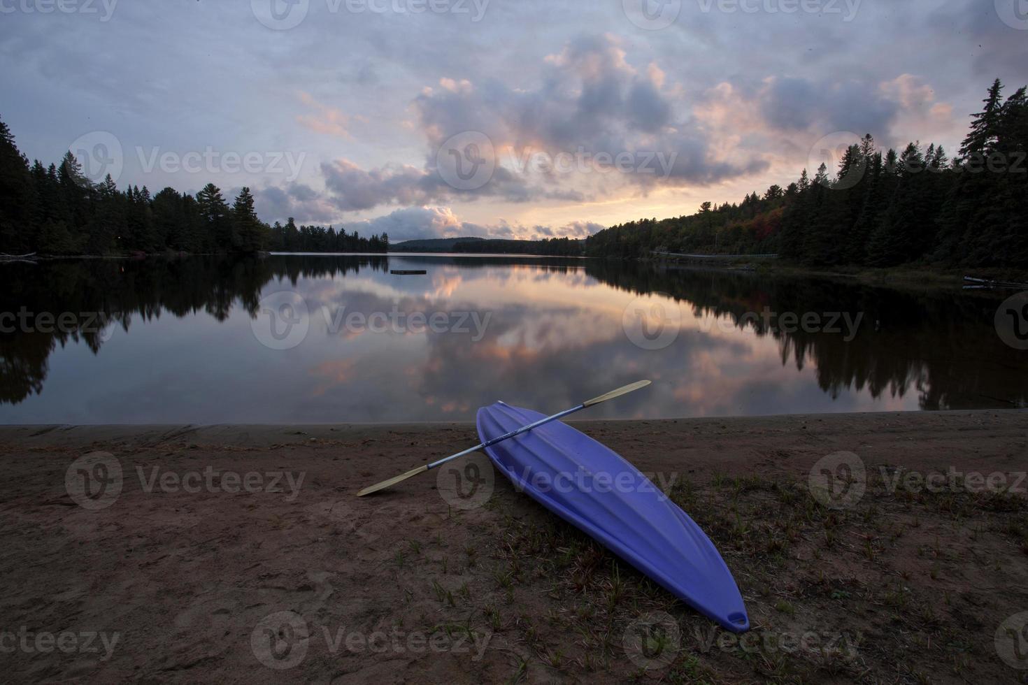 algonquin parque muskoka ontário lago ermo foto