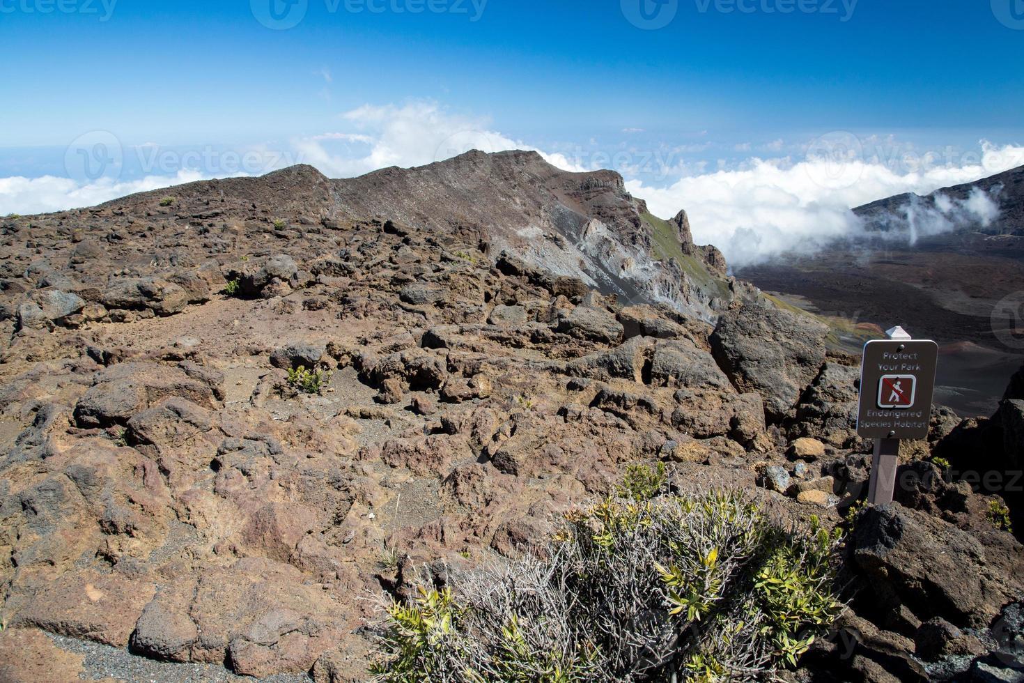 eua - havaí - maui, parque nacional de haleakala foto