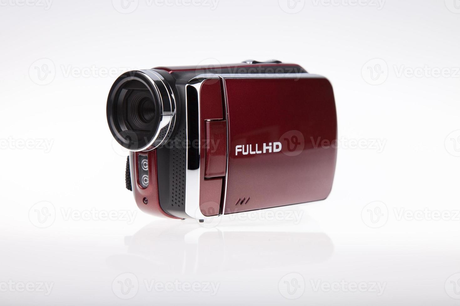 filmadora de vídeo full hd - imagem de stock foto