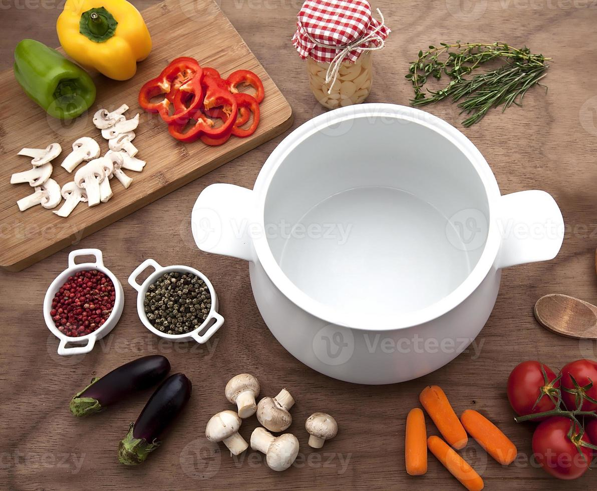 mesa de legumes foto