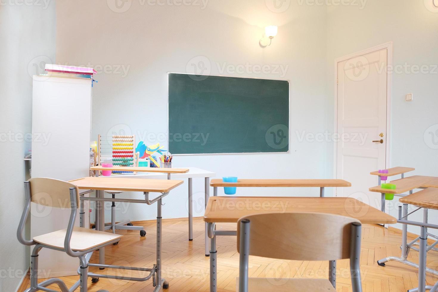 interior da sala de aula foto