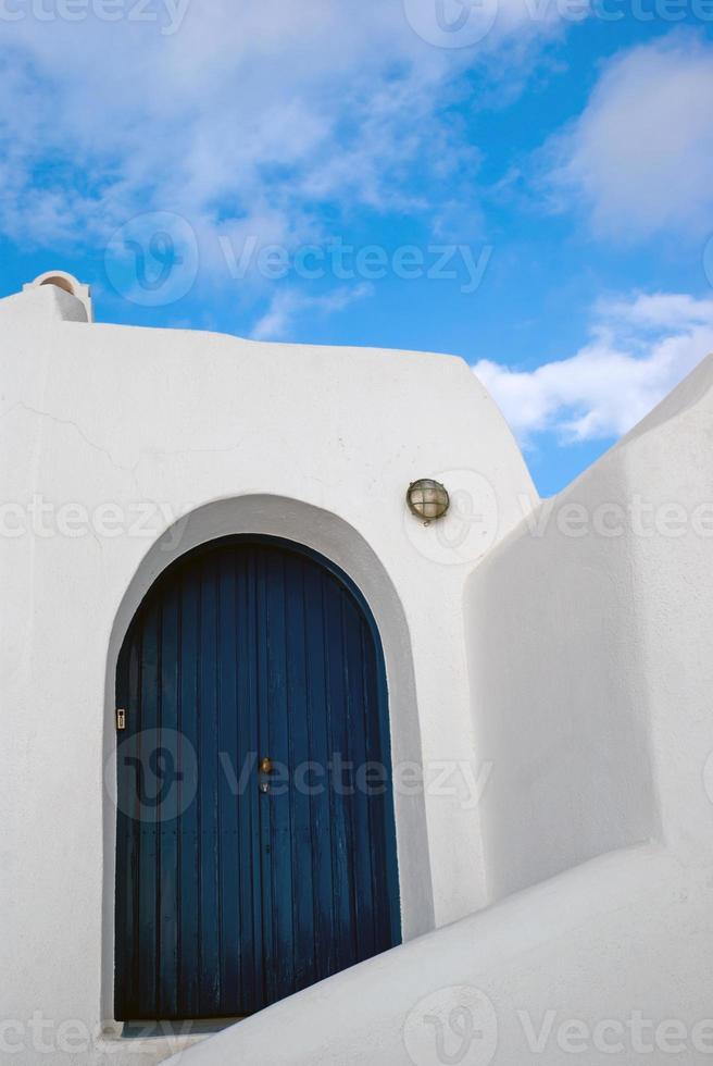 arquitetura na ilha de santorini, grécia foto