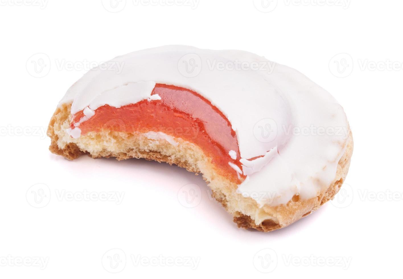 biscoitos com recheio de geléia e cobertura de iogurte foto