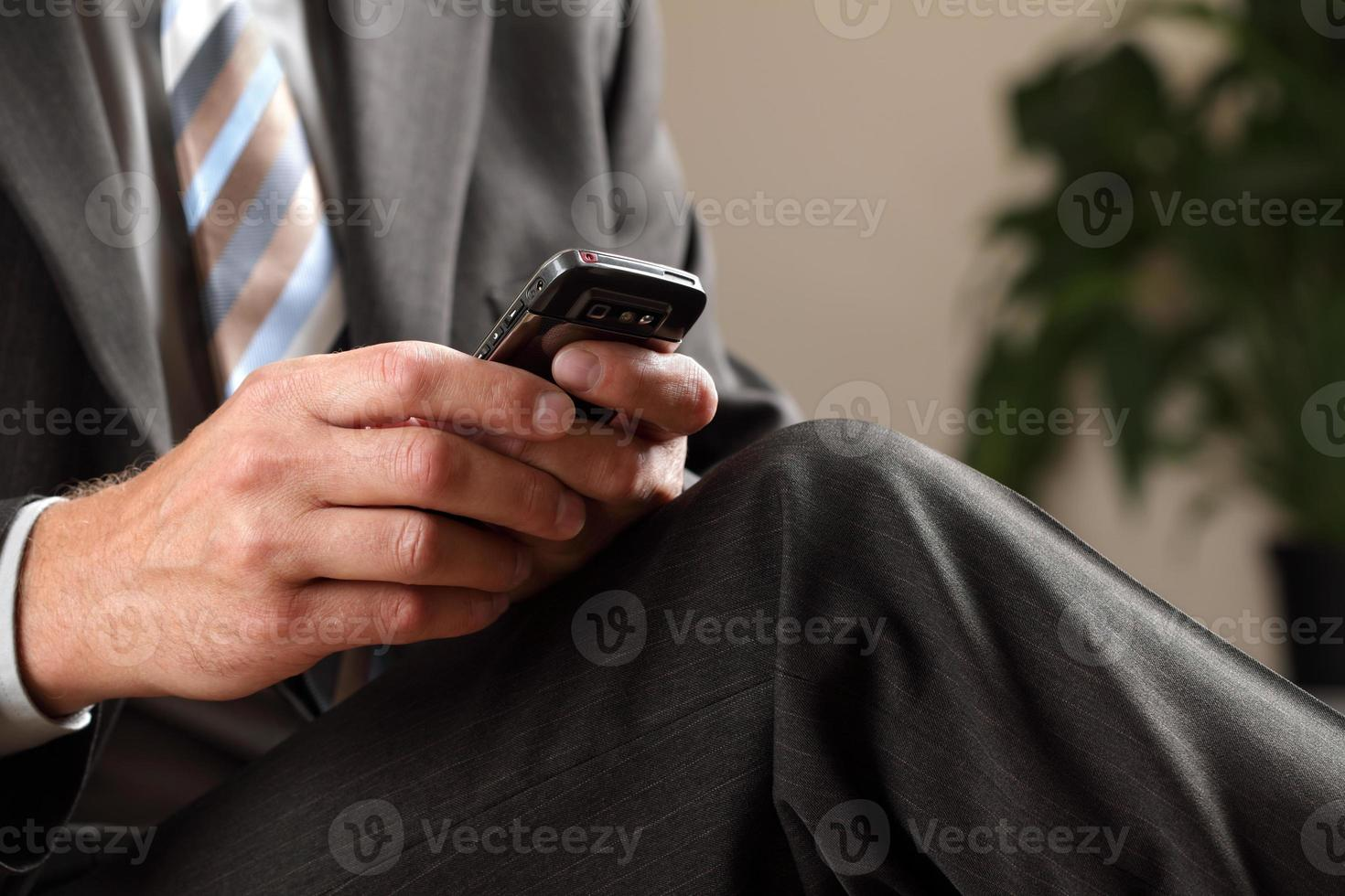 mensagens de texto de homem de negócios foto