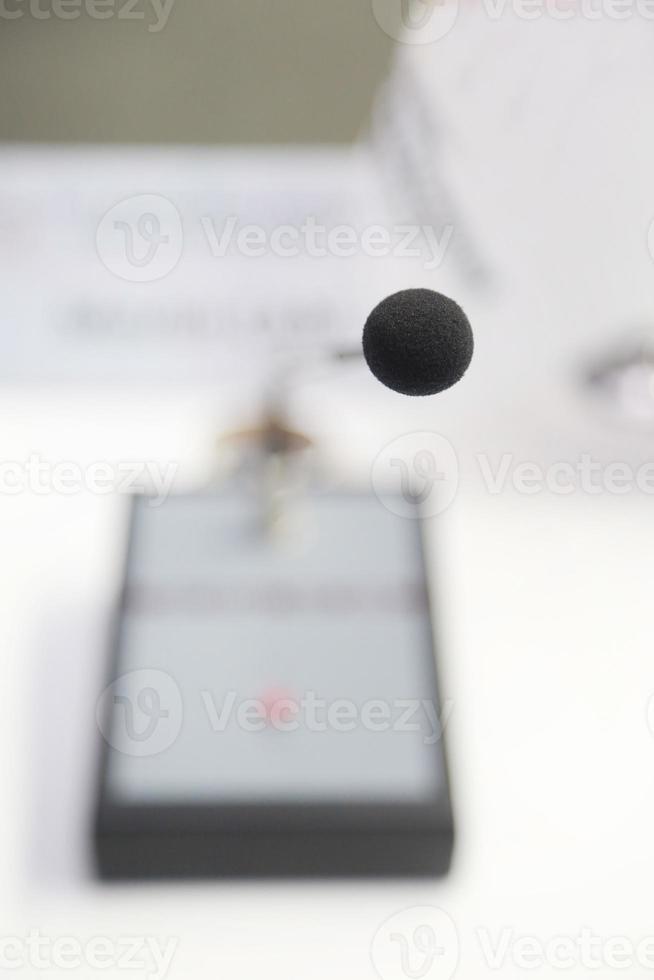 delegar microfone foto