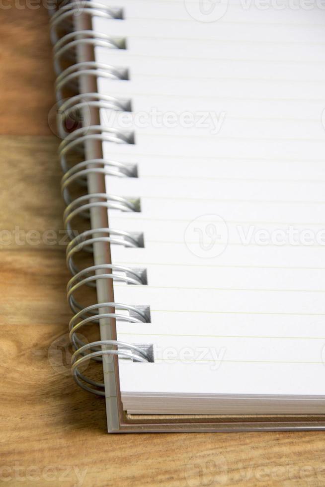caderno vazio foto
