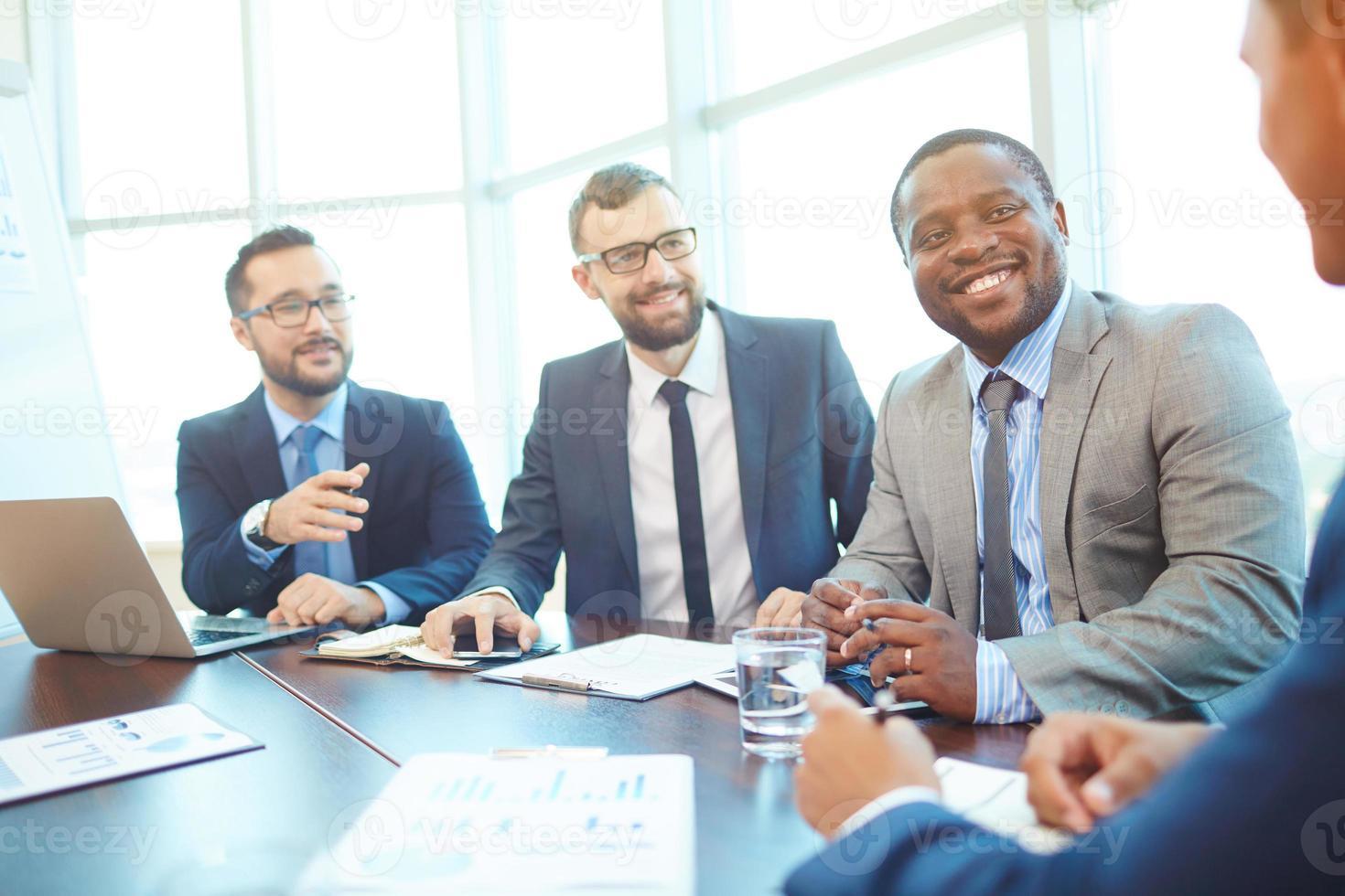 empresários na conferência foto
