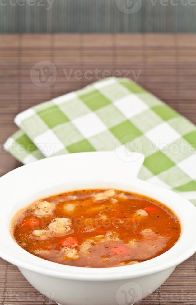 sopa e guardanapo foto