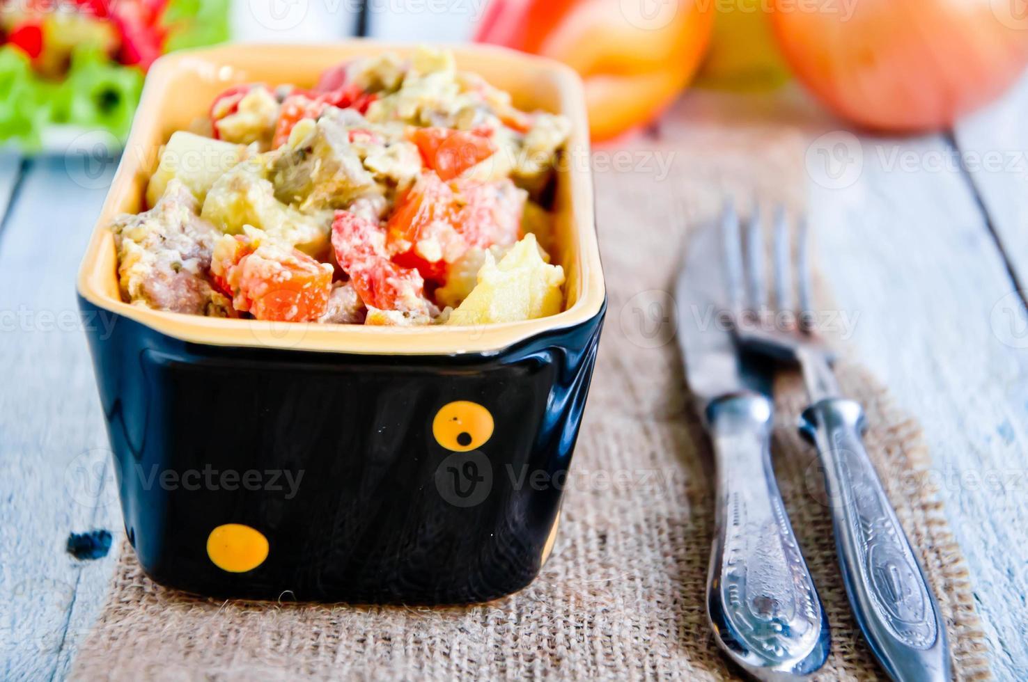 delicioso lentilha e ensopado de legumes foto