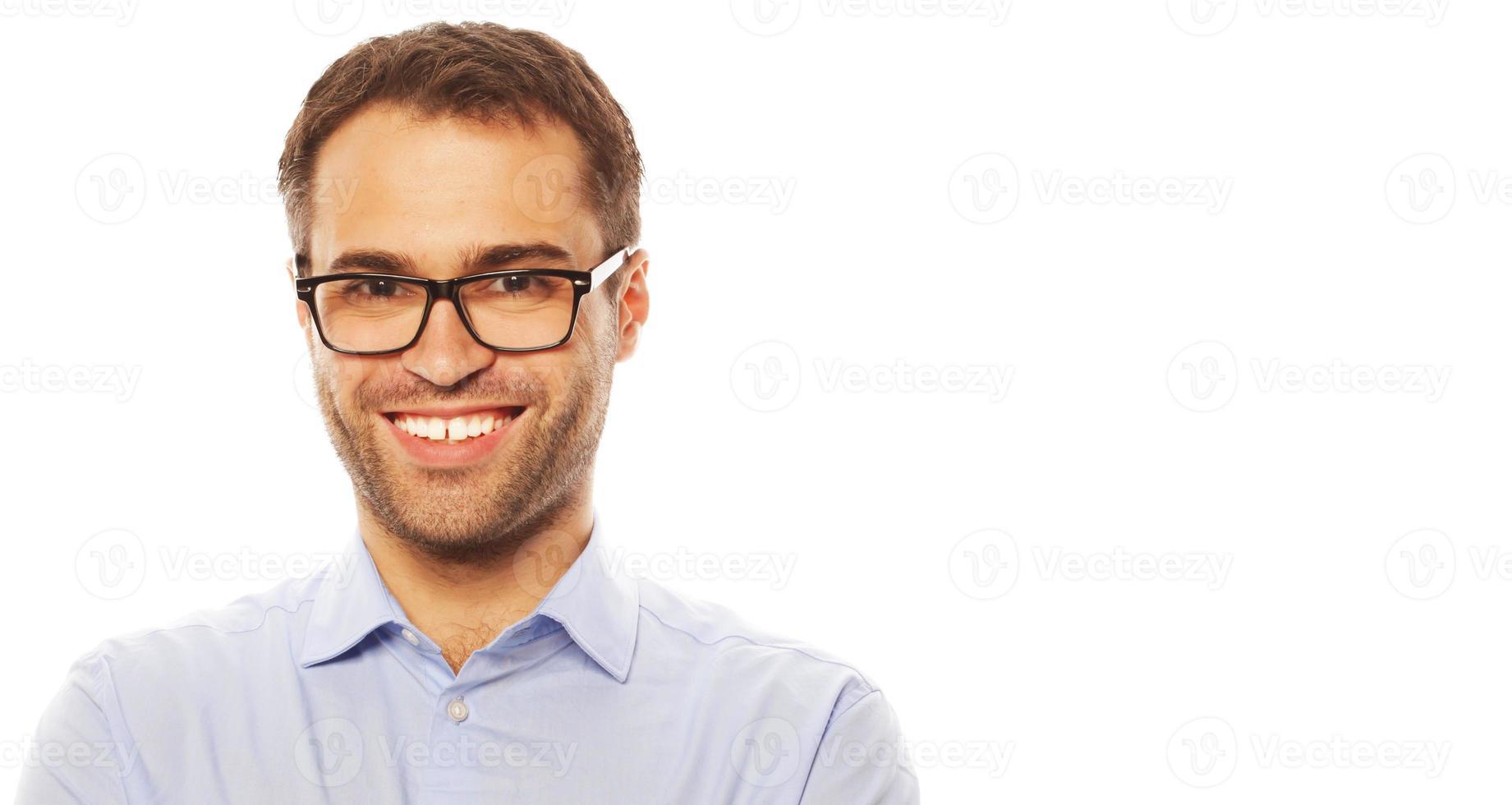 homem de negócios jovem bonito foto