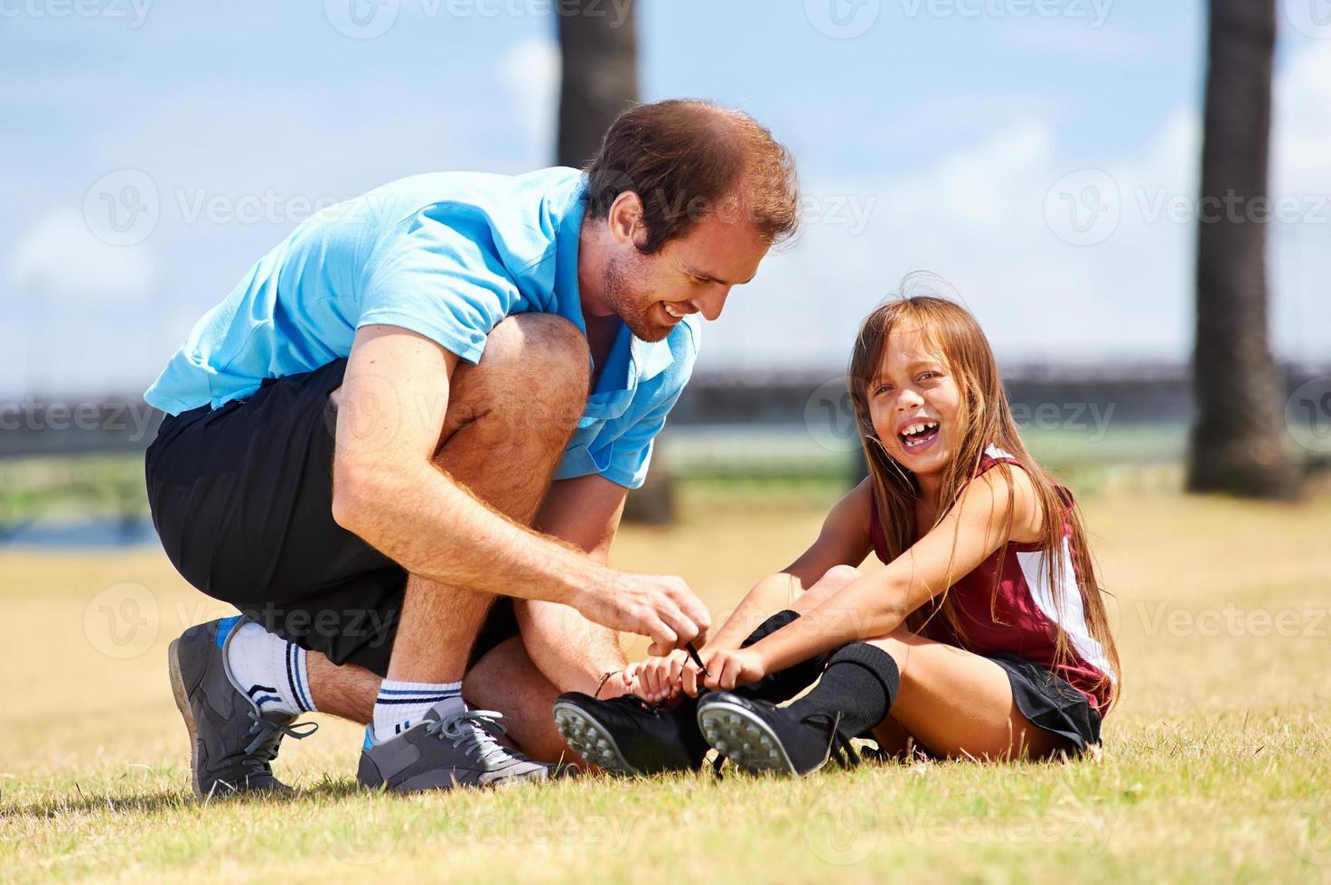 pai de futebol foto