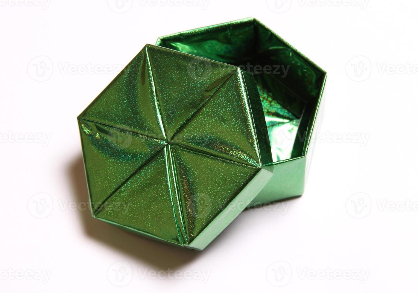 caixa de presente verde foto