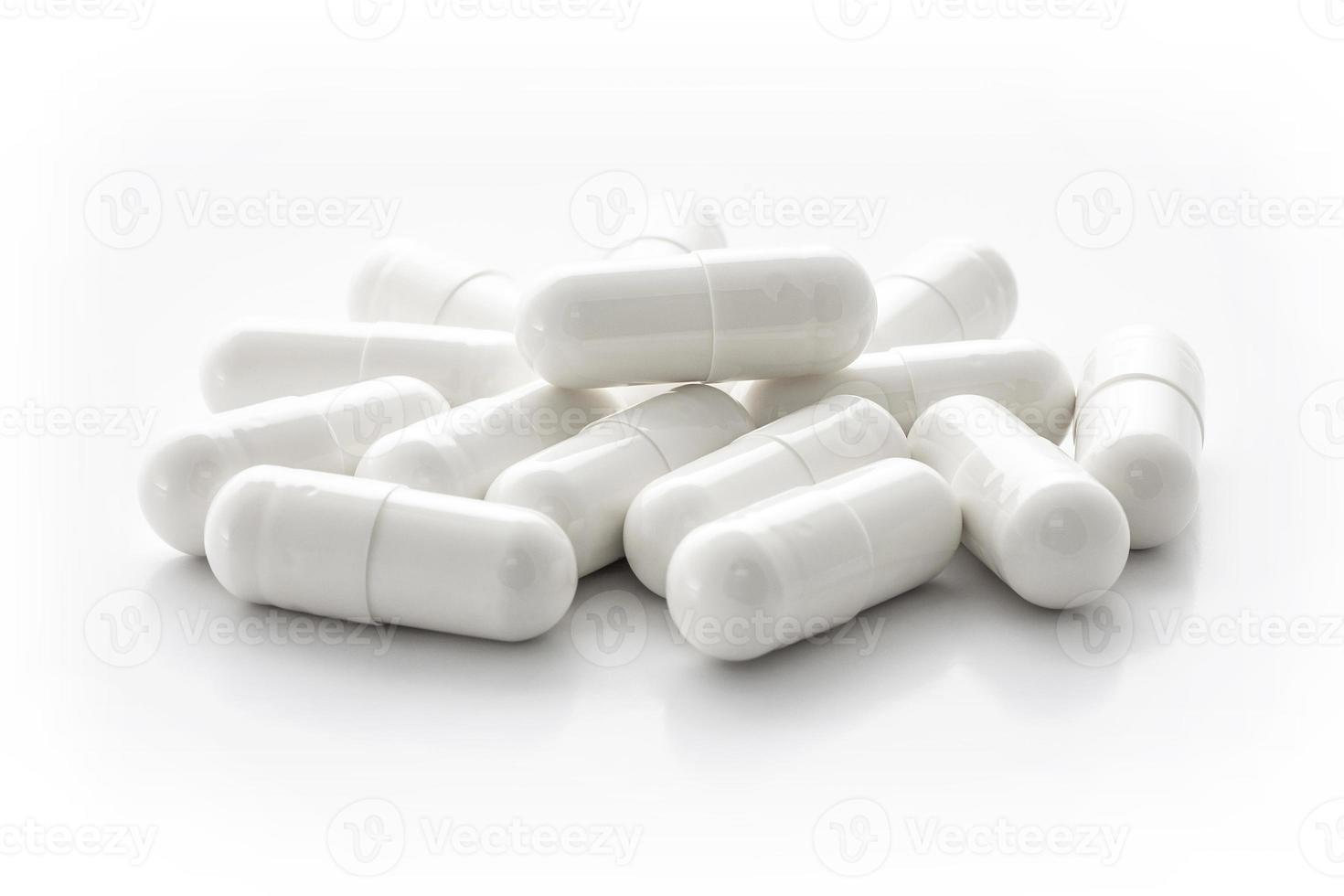 cápsulas de medicamento branco foto