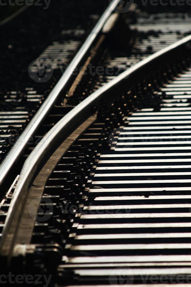 cruzamento de linha de trem foto