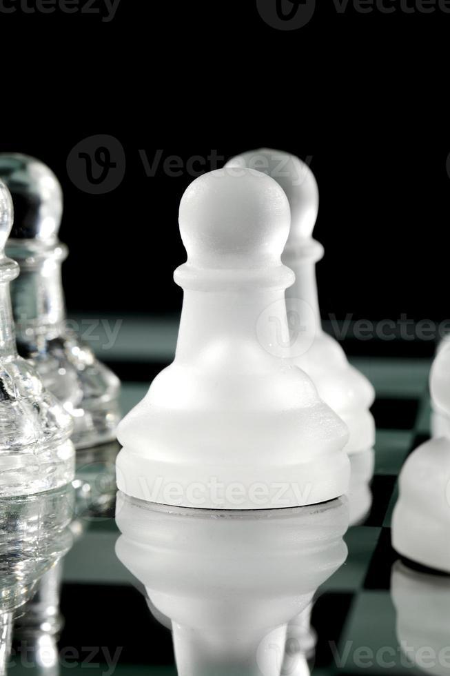 reflexão do peão de xadrez foto
