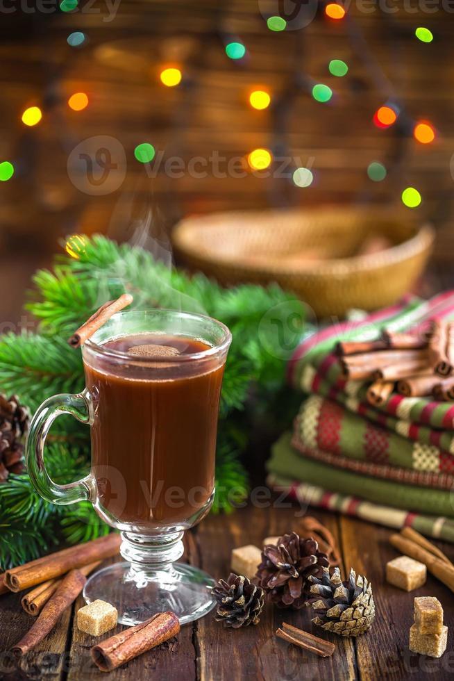 bebida de cacau de natal foto