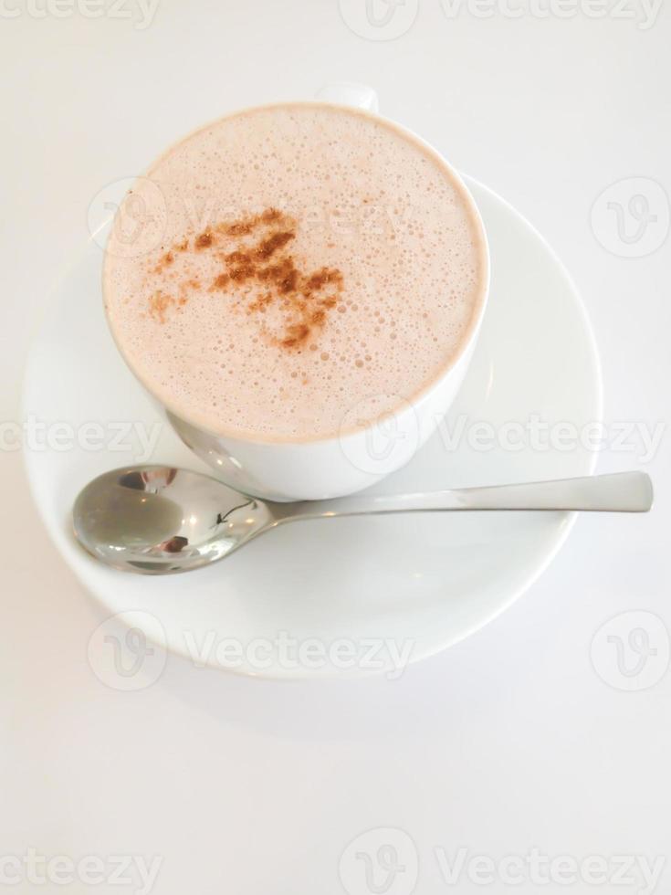 bebida de chocolate quente foto