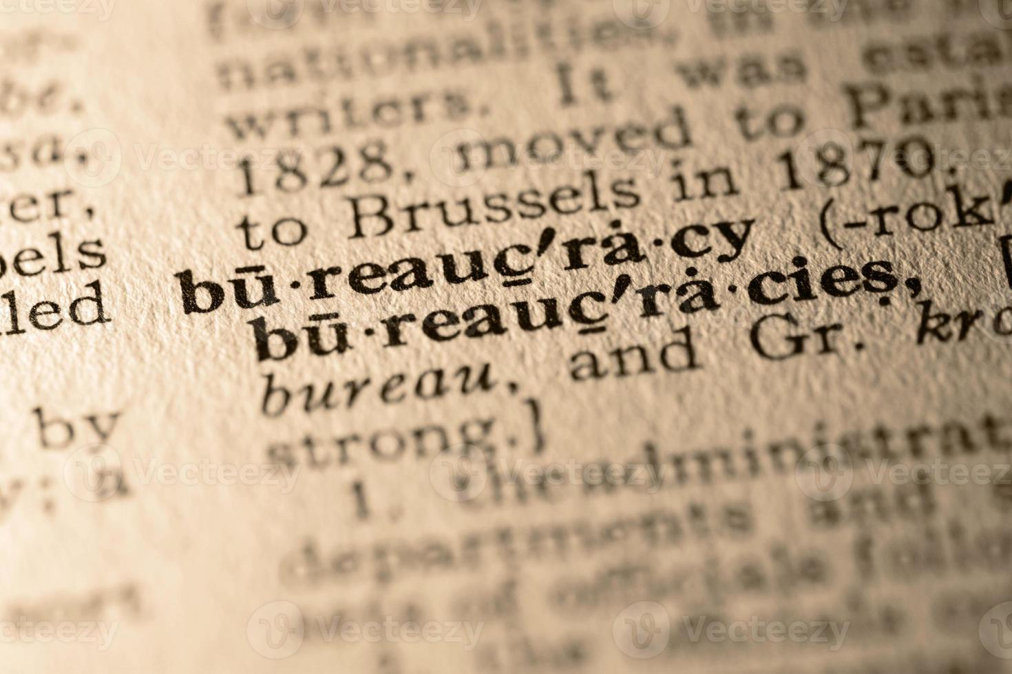 a palavra burocracia foto