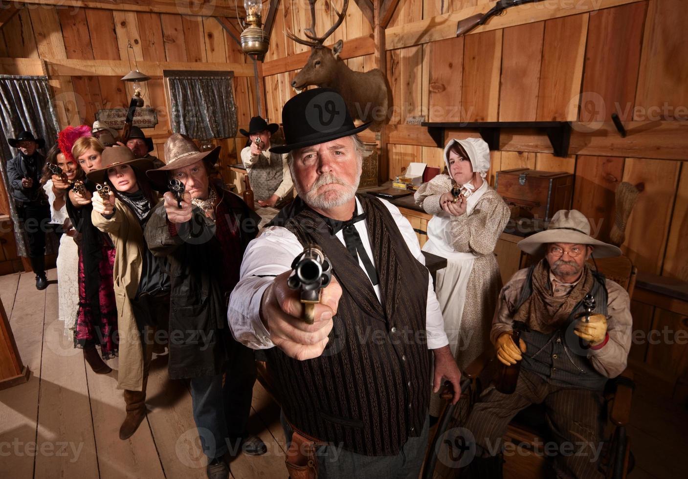 pistoleiros sérios foto