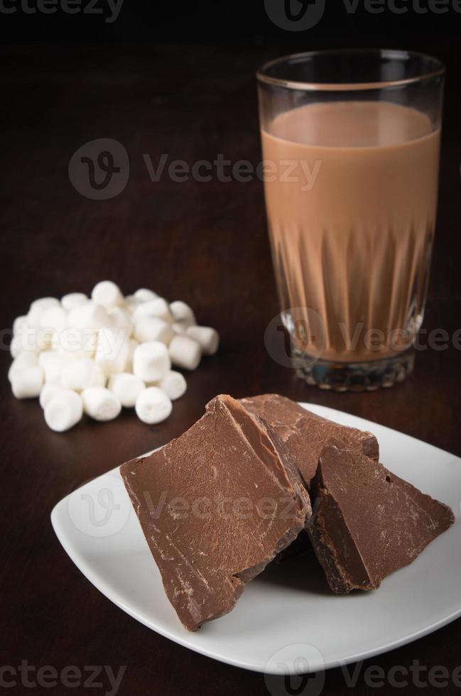 bebida de chocolate foto