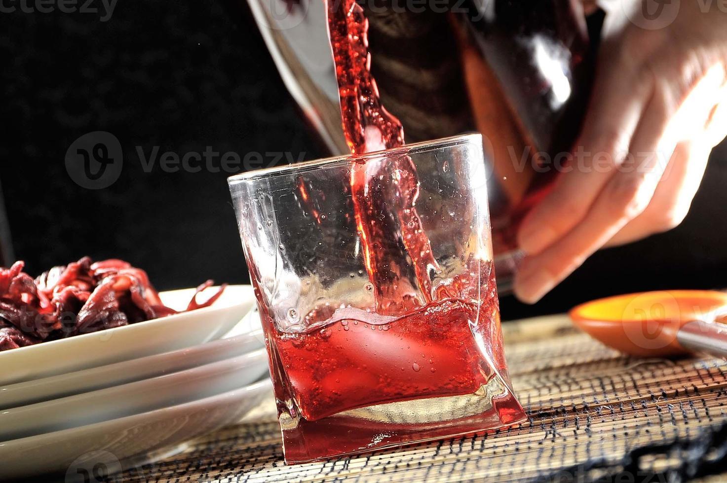 bebida de hibisco foto