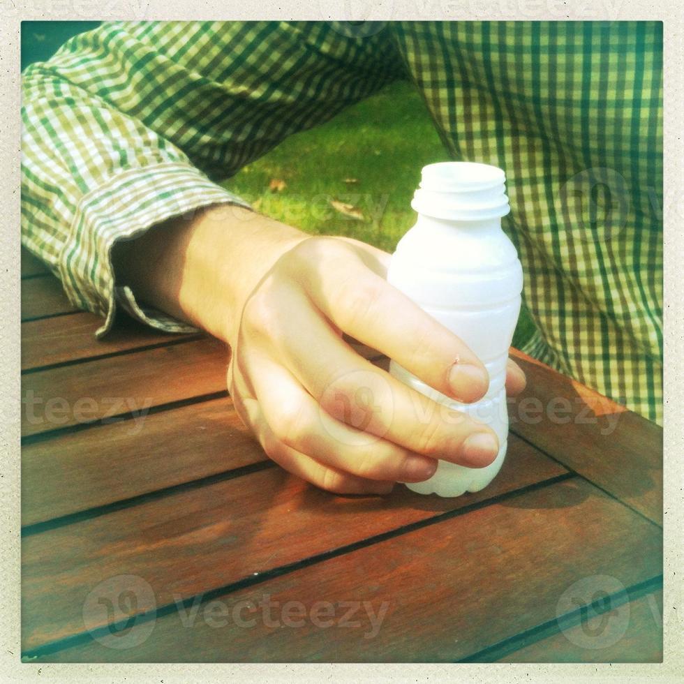 bebida probiótica de iogurte foto