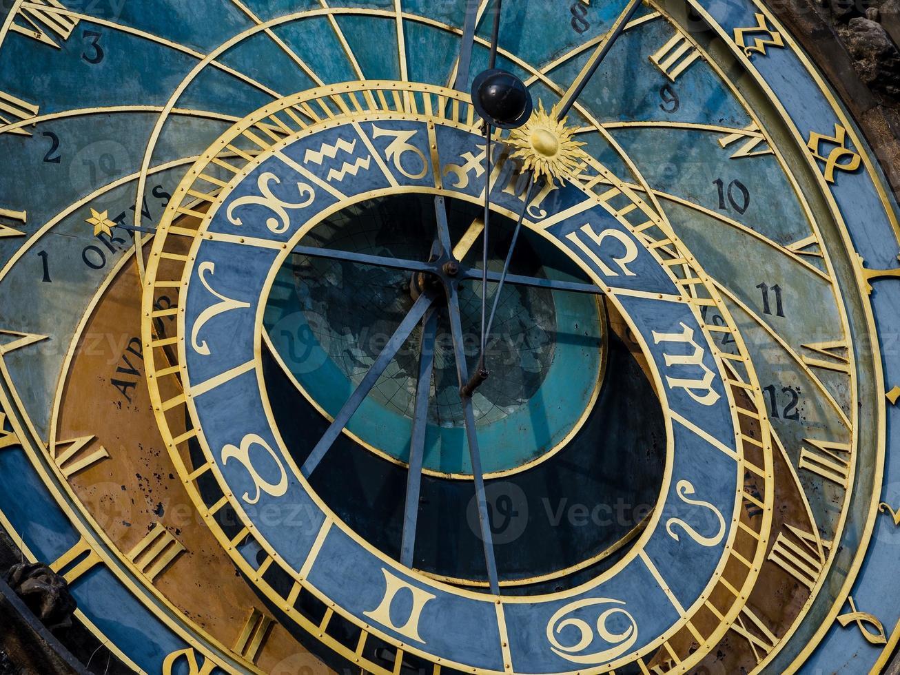 relógio astronômico de Praga (orloj) na cidade velha de Praga foto