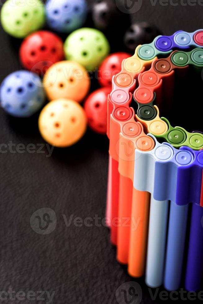 canetas coloridas foto