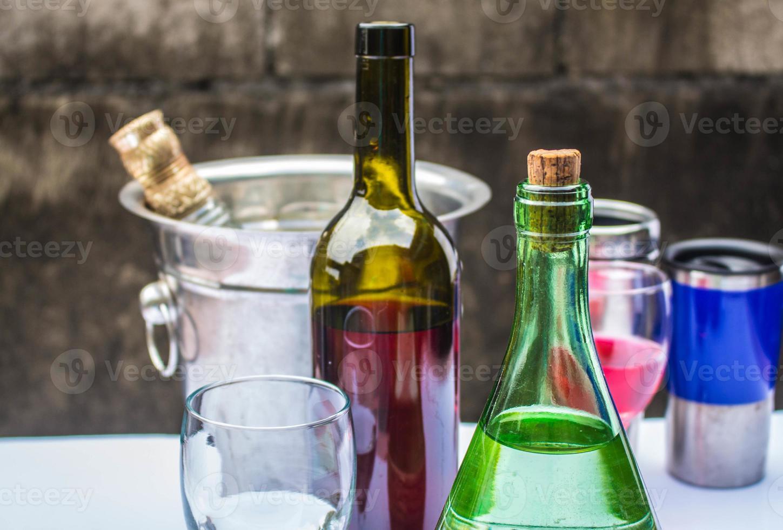 bebidas na festa foto