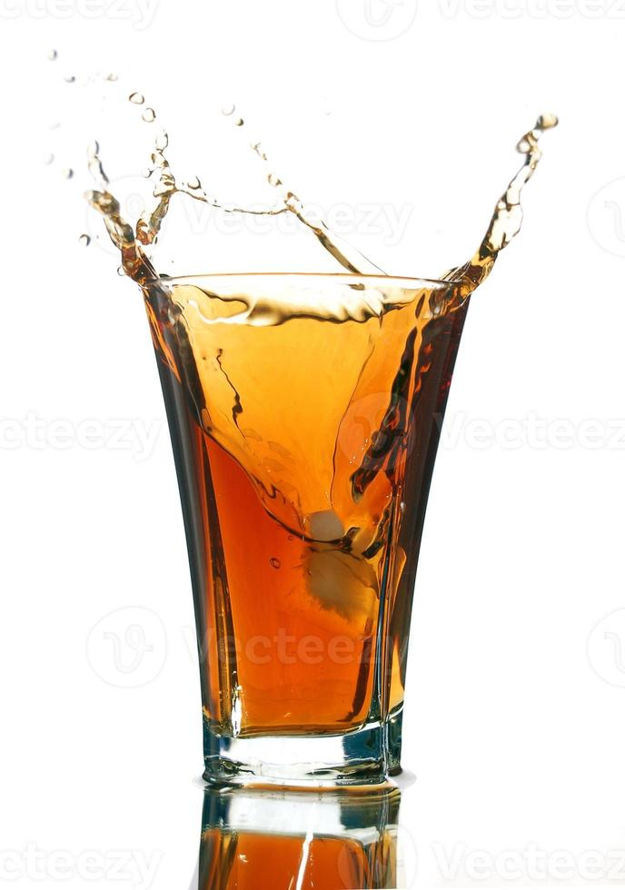refrigerante com um splash foto