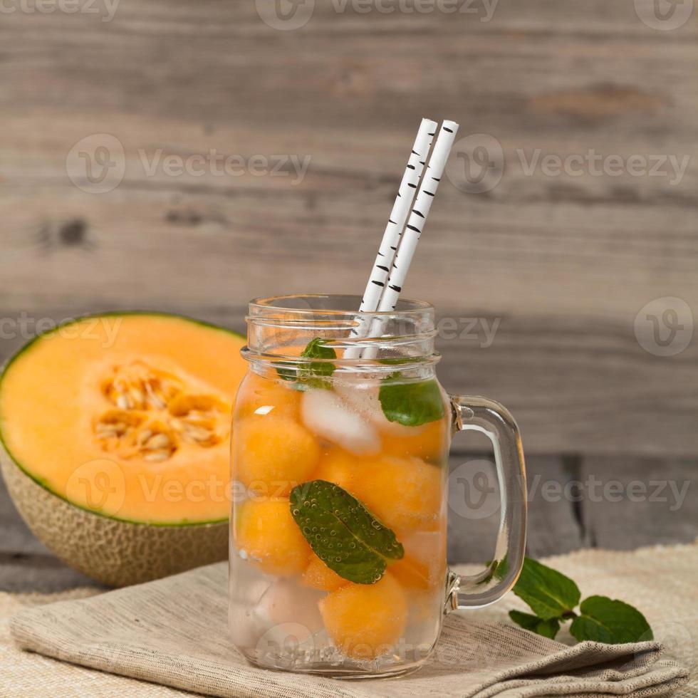bebida de melão fresco foto