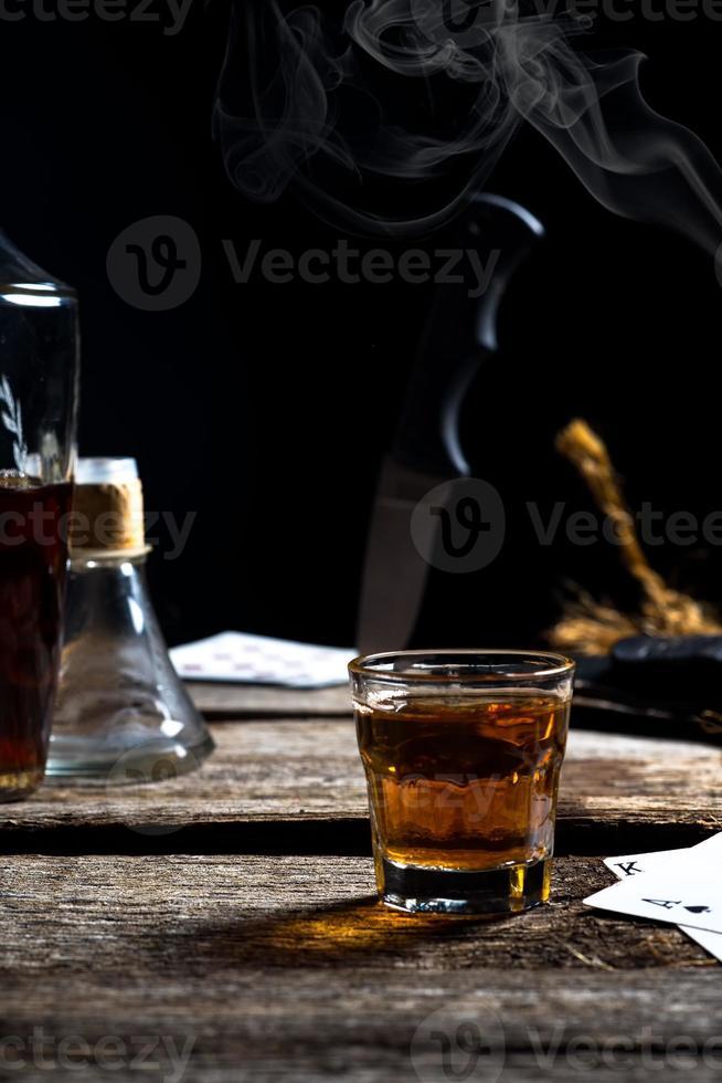 cena bebendo abstrata foto
