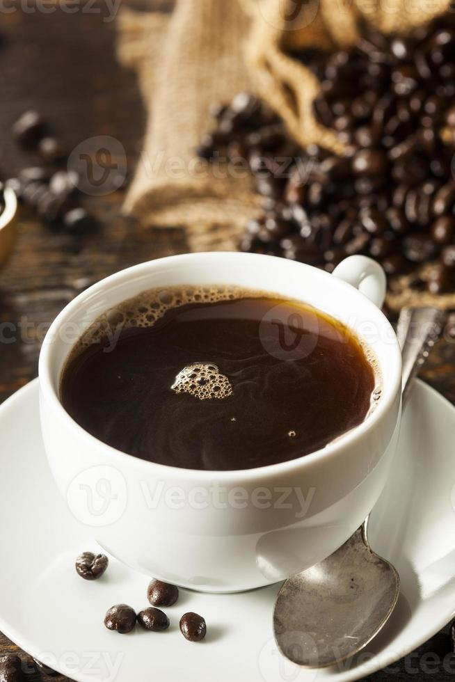 bebida quente de café preto caseiro foto
