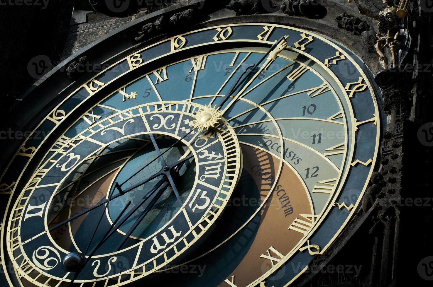 relógio astronômico da velha praga. foto