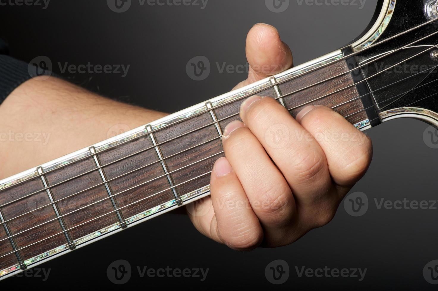 principais acordes de guitarra foto