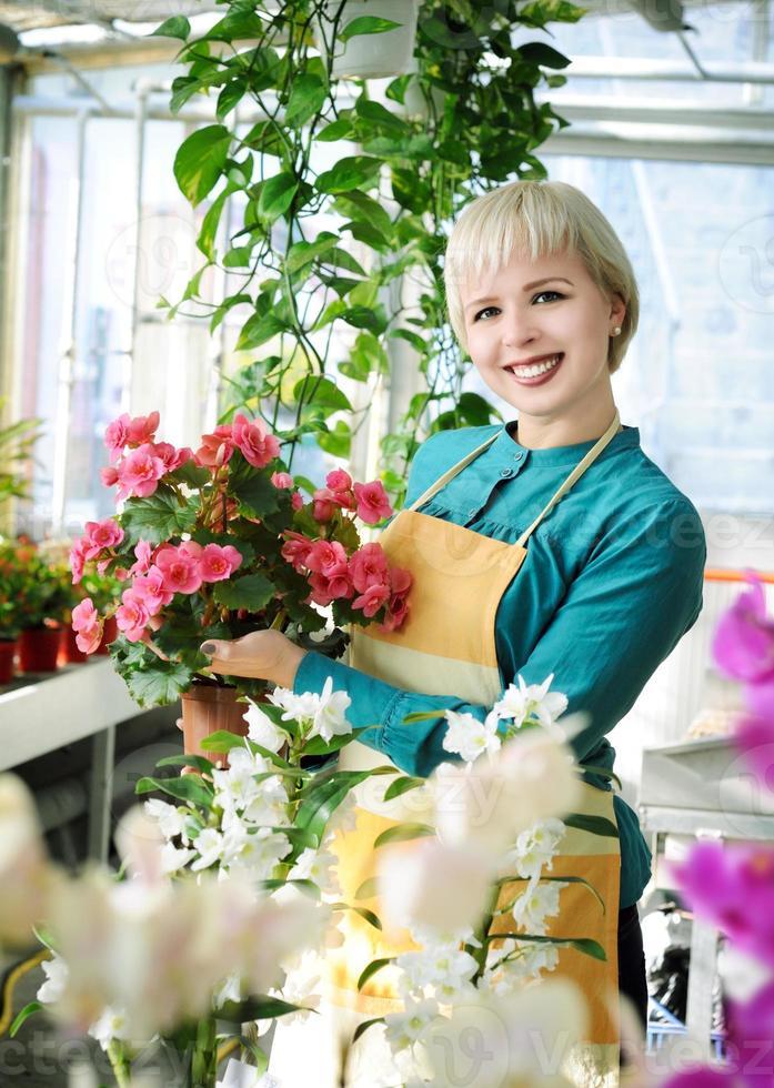 florista alegre foto